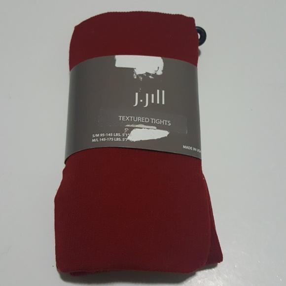 9cd2823f10b5e J. Jill Accessories | Nwt J Jill Ladies Red Textured Tights Size Sm ...